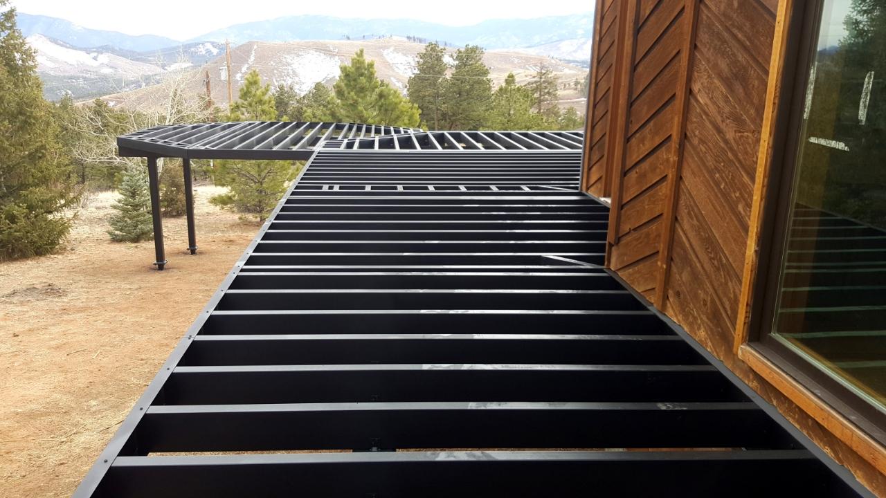 Evolution steel deck framing