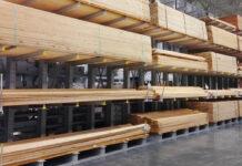 Lumber prices lumberyard rack