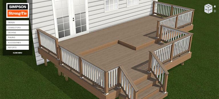 Simpson Strong-Tie Deck Planner Software.