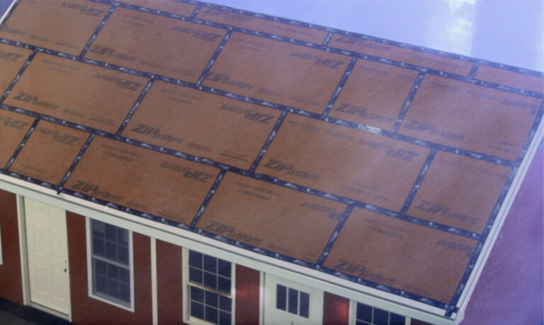 Huber sealed roof deck ZIP system
